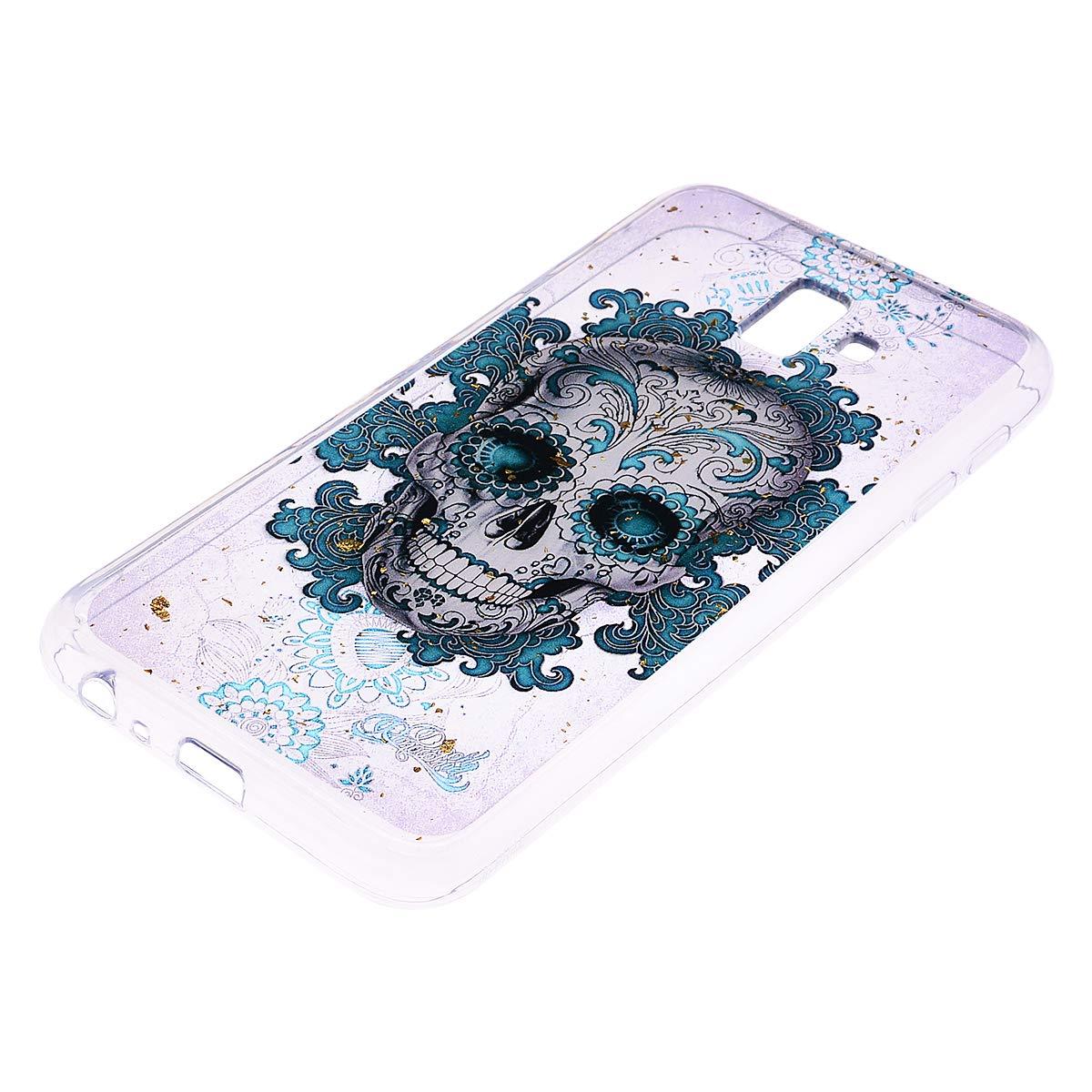 EuCase Funda Samsung J6 Plus 2018 Silicona Transparente con Dibujos Carcasa Galaxy J6 Plus 2018 Antigolpes Suave TPU Flexible Ultra Delgada Cubierta Protector Bumper Case para Caja Tapa Mandala