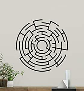 Labyrinth Maze Wall Decal Vinyl Stickers Abstract Pattern Home Interior Design Art Murals Bedroom Decor 18l01te