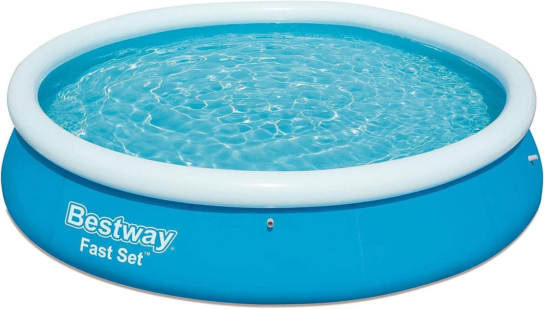 Bestway 57273 - Piscina (Piscina Hinchable, Círculo, 5377 L, Azul, PVC, 10 min)