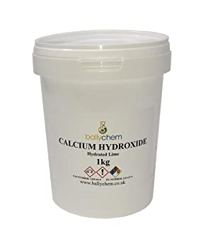 Hidróxido de calcio - slaked Lime - hidratado Lima - 1 kg: Amazon.es: Jardín