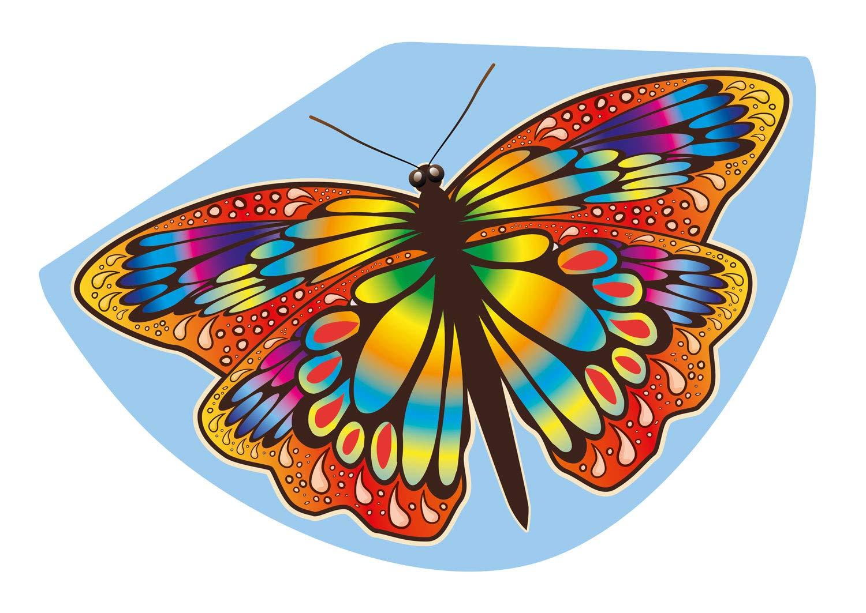 Gunther - 1104 - Cerf-Volant Mono Fil - Papillon - Multicolore