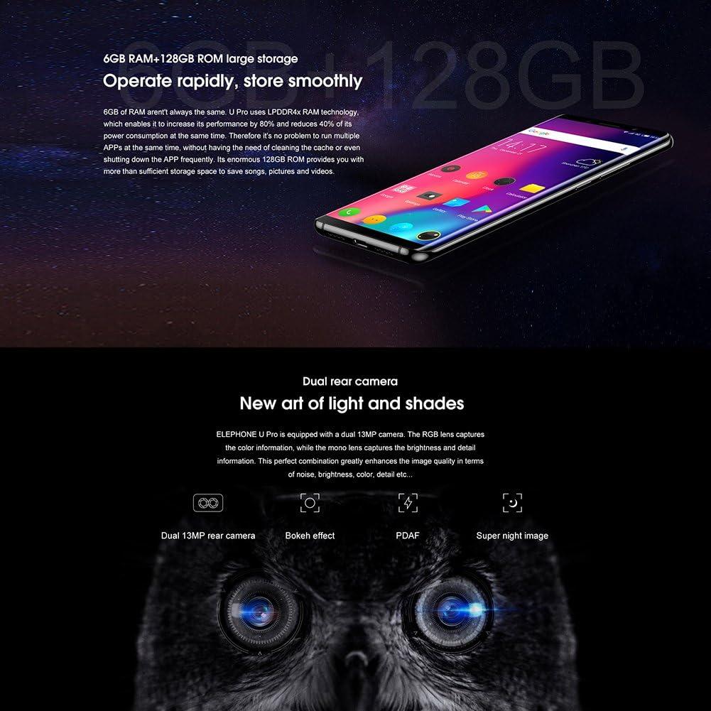 Smartphone Elephone U Pro Elephone 4G Android 8.0 Dual Cámara ...