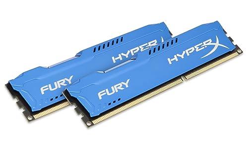 HyperX HX313C9FK2/8 Fury 8 GB (2 x 4 GB) DDR3 1333 MHz CL9 DIMM Memory Module Kit, Blue
