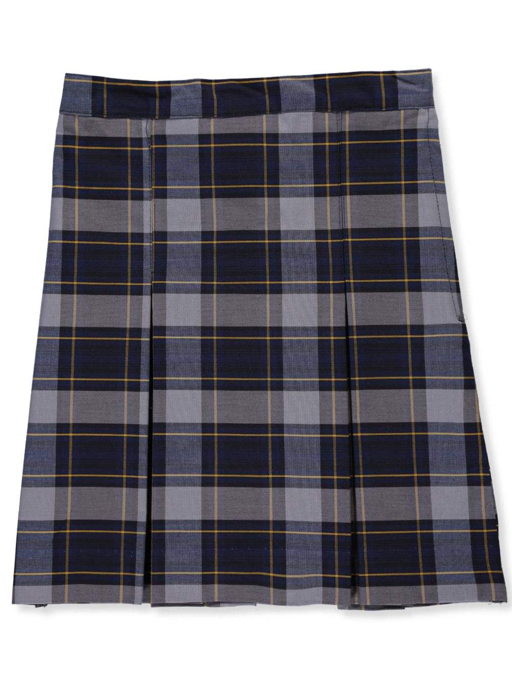 Cookie's Brand Big Girls' Box Pleat Skirt - Royal/lt. Blue/goldplaid #57, 7