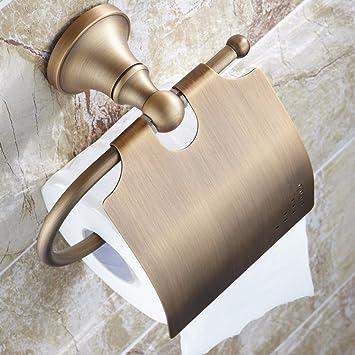 XJTSM-Cobre antiguo estante de colgar de la pared de baño, toallas de papel, papel higienico ...
