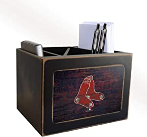 Red Sox Distressed Team Logo Desktop Organizer with Color