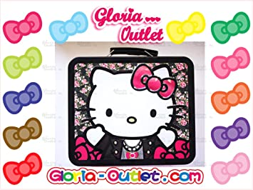 Amazon.com   Hello Kitty Floral Metal Tin Lunch Box Loungefly Sanrio    Cosmetic Tote Bags   Beauty 6be5868c609e2