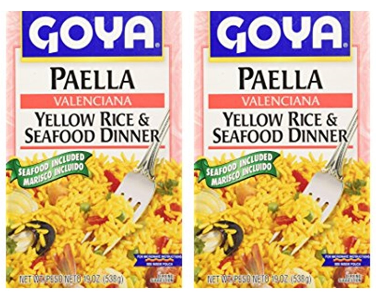 Goya Paella Yellow Rice & Seafood Dinner (Pack of 02)
