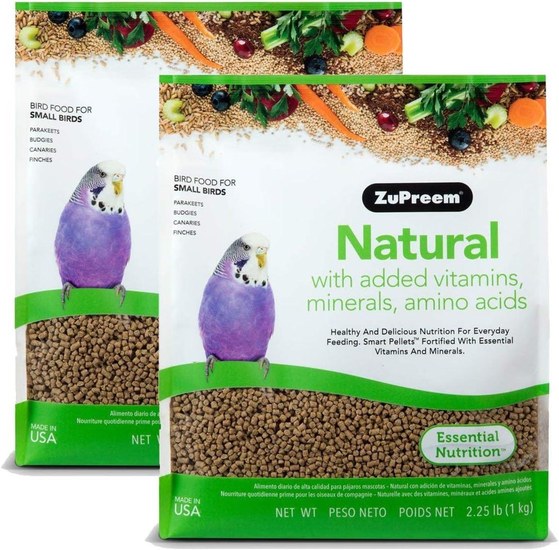 ZuPreem Natural with Added Vitamins, Minerals, Amino Acids Small Bird Food, 4.50 lb.