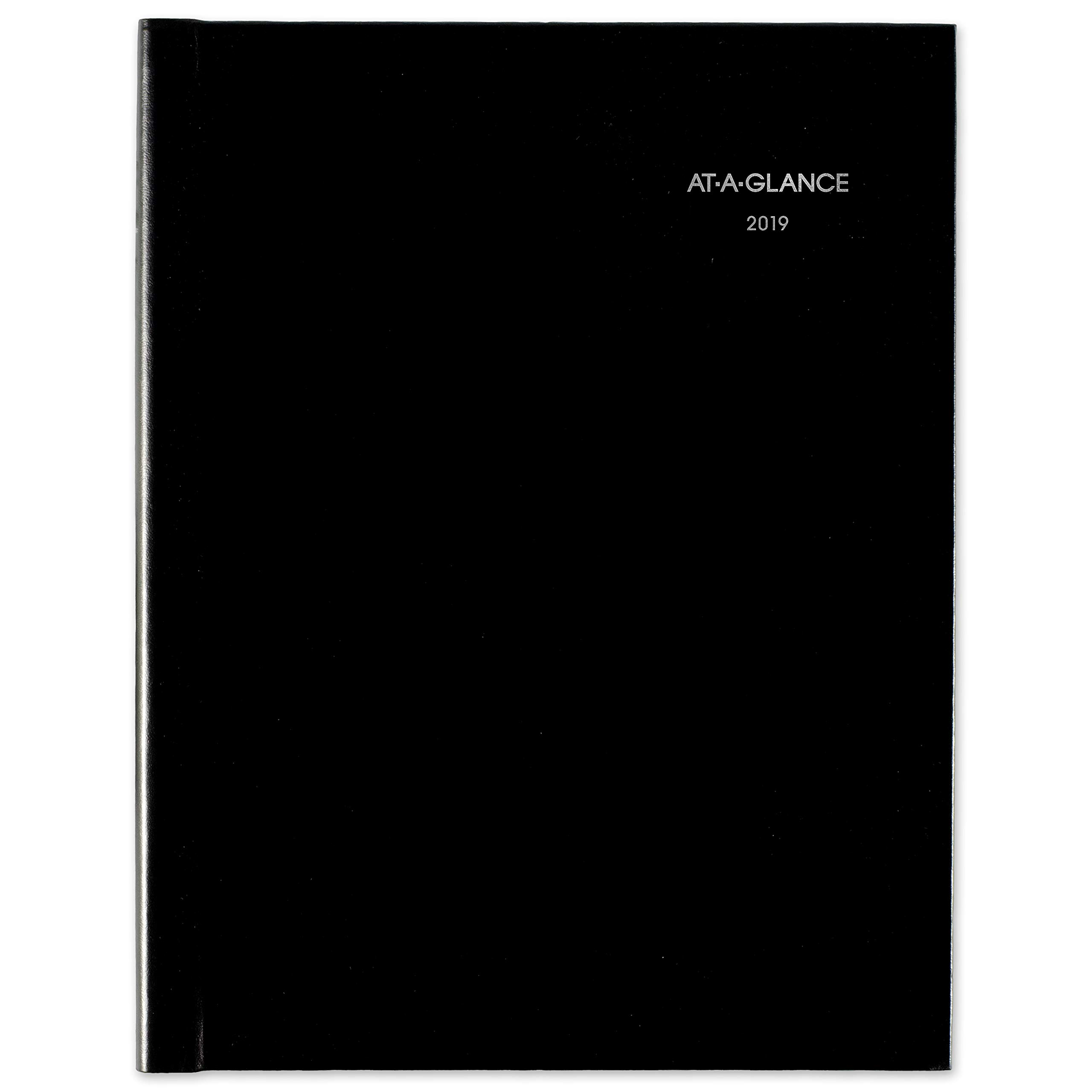 AT-A-GLANCE 2019 Weekly Planner / Appointment Book, DayMinder, 8'' x 11'', Large, Hard Cover, Recycled, Black (G520H00)