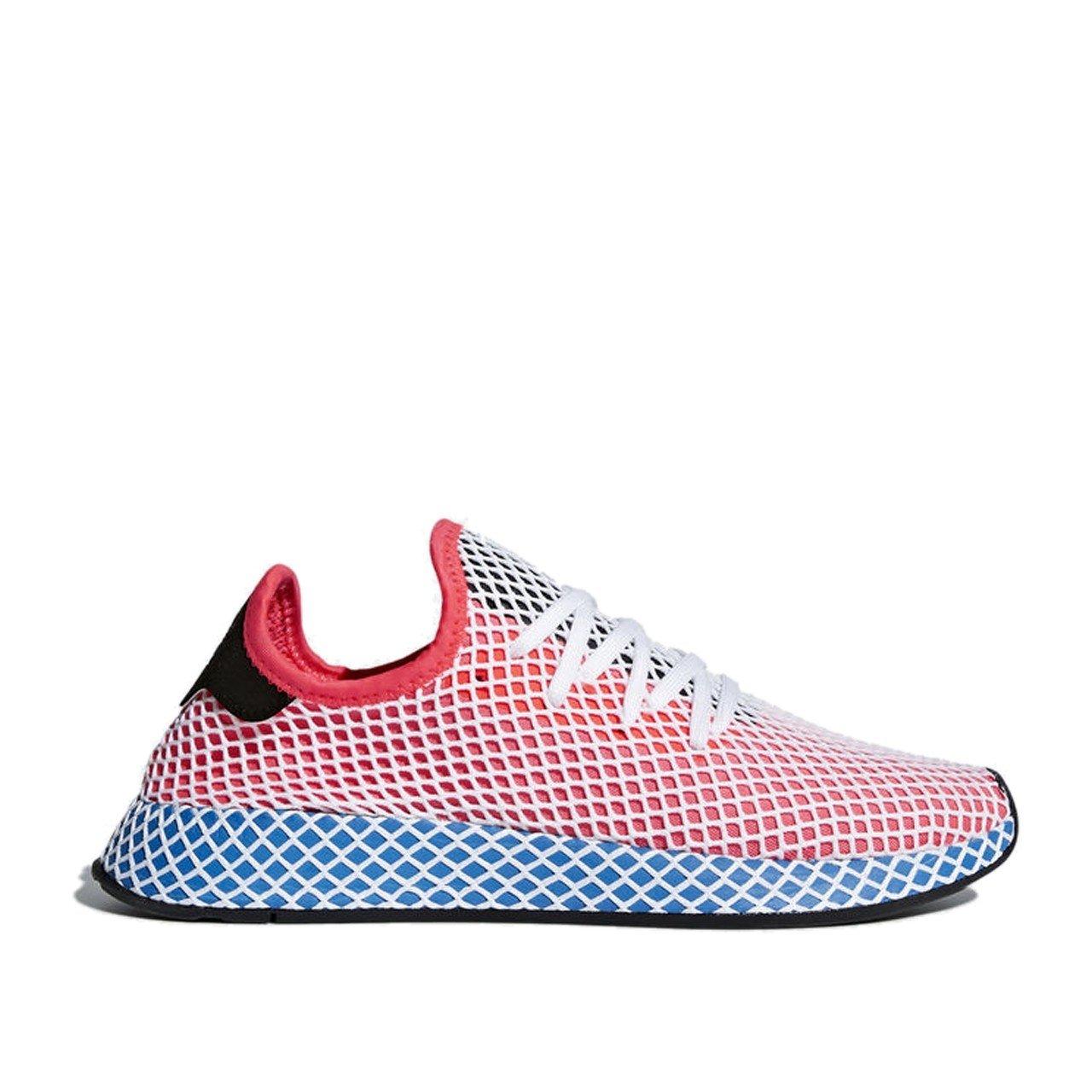 adidas Men's Deerupt Runner Originals Solar Red/Solar Red/Bluebird Running Shoe 10 Men US