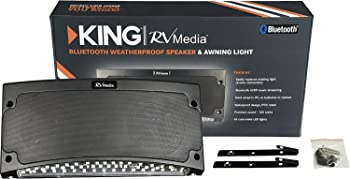 KING Bluetooth Outdoor Speaker with White LED Awning Light