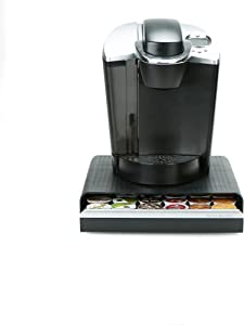 Mind Reader HERO36-BLK Hero Coffee Pod Drawer Storage, K-Cup Dolce Gusto CBTL Verismo, Black, One Size