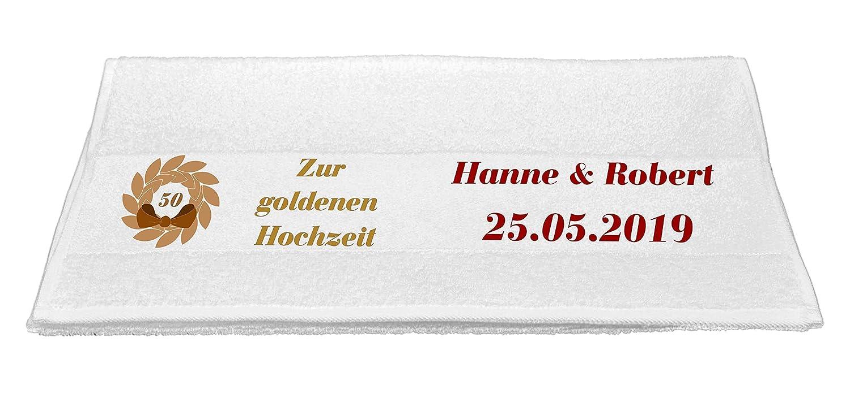 Motiv 3Abi 2021 mit Ihrem Wunschnamen in 14 Farben zur Auswahl und 2 Gr/ö/ßen Bedruckte Frottiere Handt/ücher oder Bade//Duscht/ücher Abigeschenke
