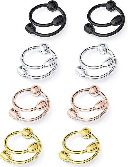 1 Pair of Non-Piercing Adjustable Nipple Rings for Women Circle Nipple V2I8
