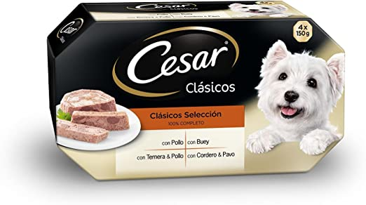 Multipack de 4 tarrinas de 150g clásicos selección   [Pack de 6]: Amazon.es: Productos para mascotas