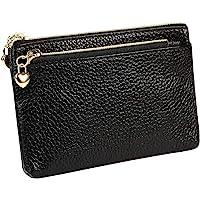 Women's Genuine Leather Coin Purse Zipper Pocket Size Pouch Change Wallet