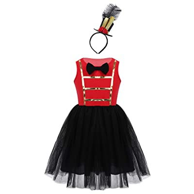 US Kid Baby Girl Ringmaster Circus Costume Themed Party Romper Tutu Fancy Dress