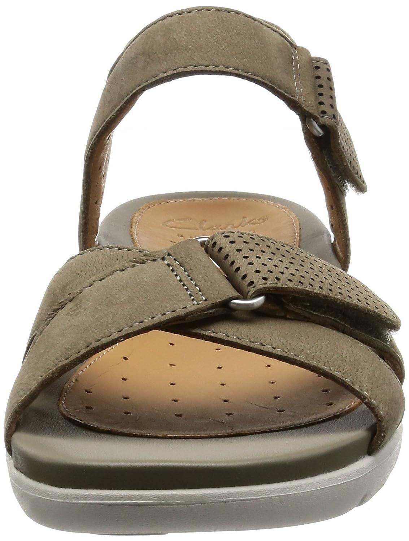 c05f237c31ac75 CLARKS Sandales pour Femme 26124935 Un Saffron Sage Nubuck Taille 37:  Amazon.fr: Chaussures et Sacs