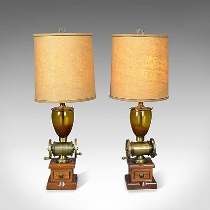 London Fine Antiques - Juego de 2 lámparas de Mesa (Forma de ...