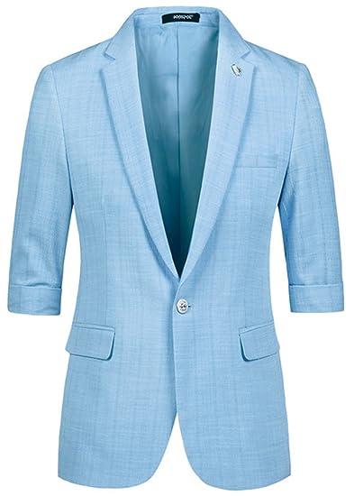 NeeKer Jacket Male Half Short Sleeve Slim Fit Thin Blazer Men\'s Prom ...