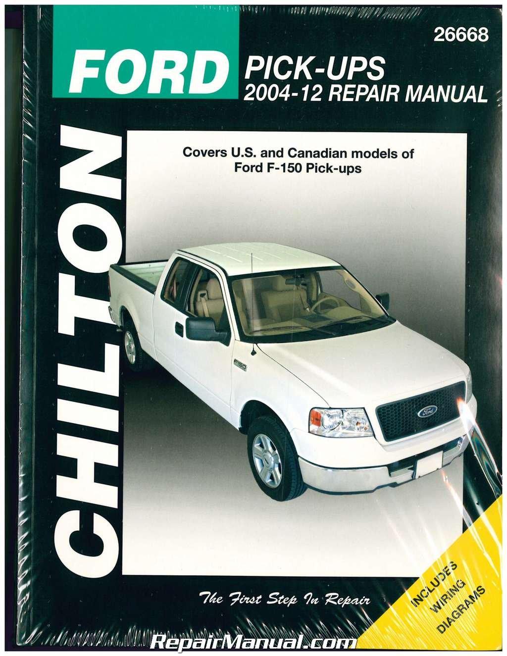 CH26668 Ford F-150 Repair Manual Pickup Trucks 2004-2012 Chilton:  Manufacturer: Amazon.com: Books