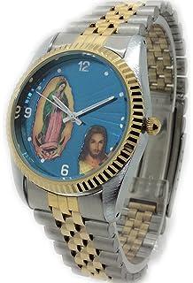 Reloj de Hombre Swanson Japan Watch Dos Tonos Mary & Jesus Resistente al Agua