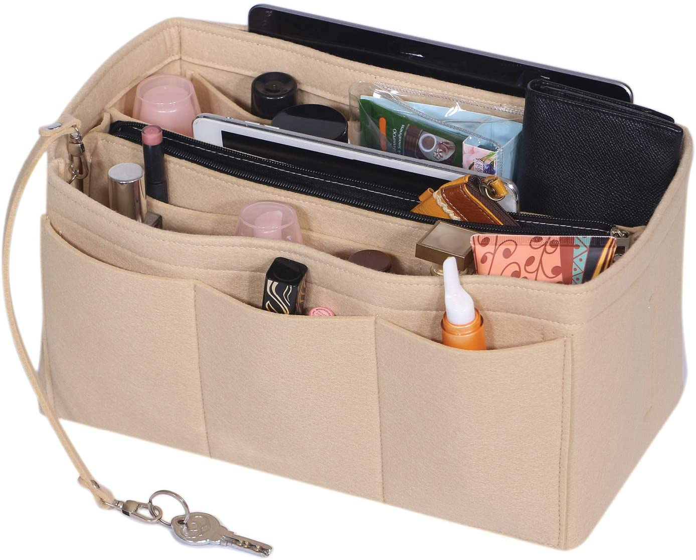 mes BAGS Bag insert organizer for Her zippered flap,EXPRESS shipping stabil structure and+ extra deep large pockets and