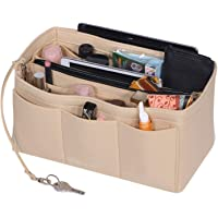 Felt Purse Organizer Insert Handbag and Tote Shaper with Zipper Bag in Bag Fit Speedy Neverfull Longchamp Tote,3 Sizes