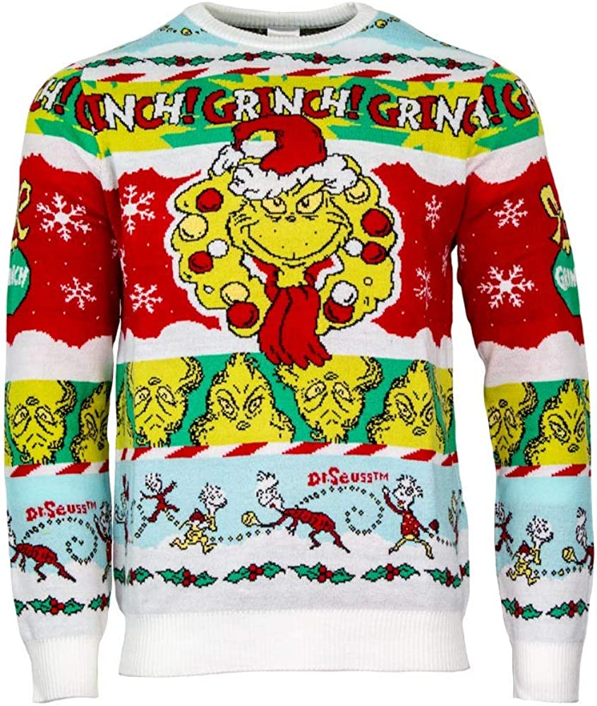 Numskull Unisex Official The Grinch 'Merry Ch Recommended Grinchmas' Limited price Knitted