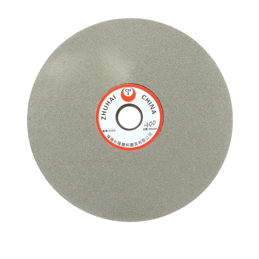 uxcell 6-inch Grit 400 Diamond Coated Flat Lap Wheel Grinding Disc Polishing Tool