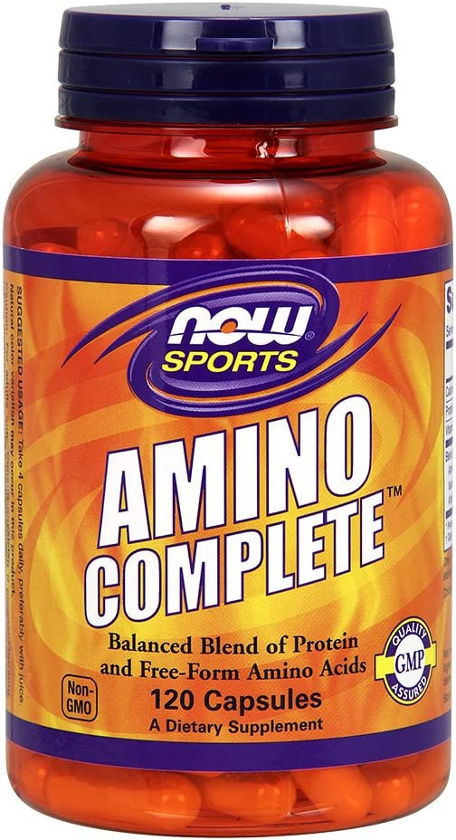 NOW Amino Complete, 120 Capsules (Pack of 2)