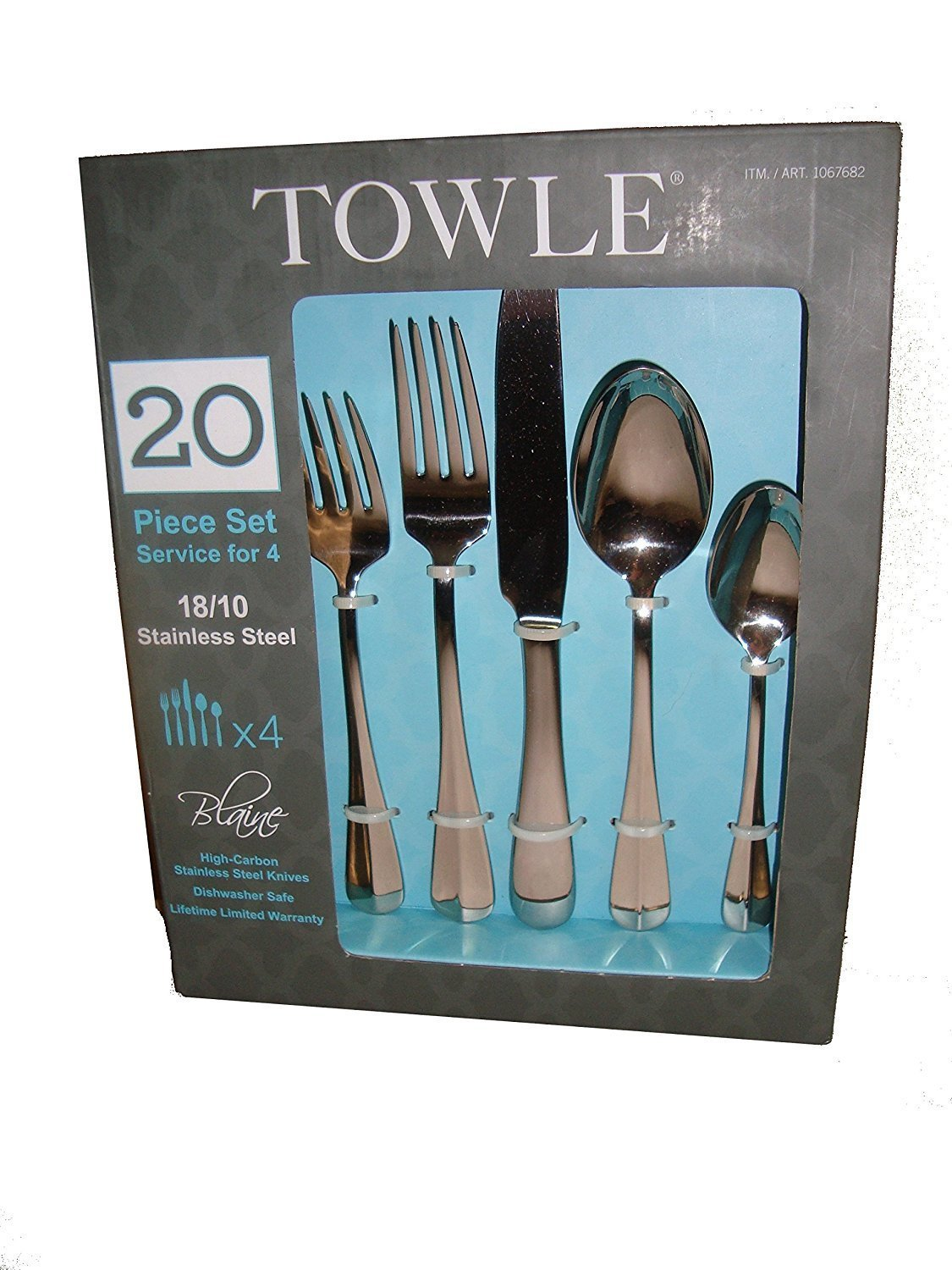 Amazon.com | Towle Blaine 20 Piece Set Service For 4 18/10 Stainless ...