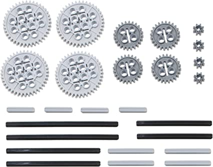 New LEGO Lot of 4 Black #2 Technic Mindstorms Axle Connector Pieces