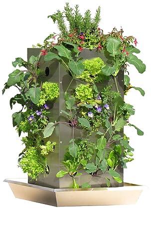 Kubi Ttg Maxi Edelstahl Hochbeet Mit Kompostierung Wasserspeicher