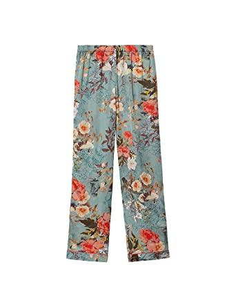58d607907182 Intimissimi Womens Japanese Summer Long Satin Trousers: Amazon.co.uk:  Clothing