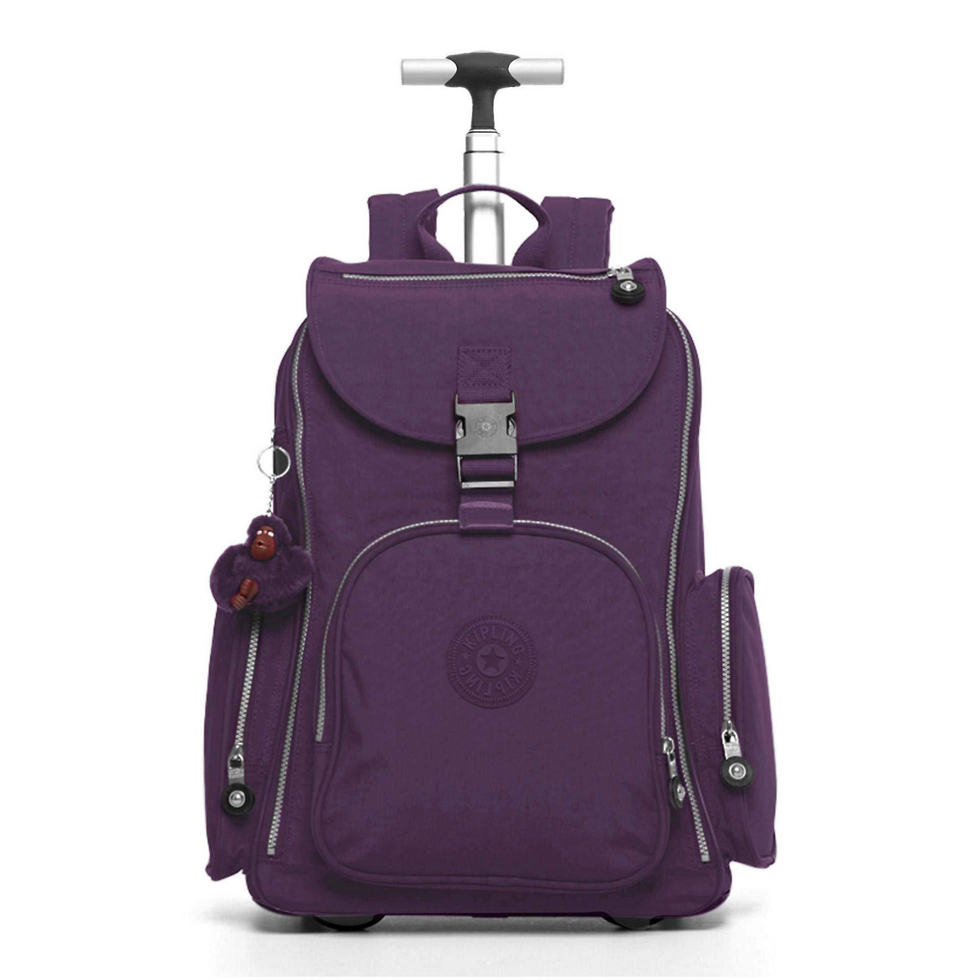 Kipling Alcatraz Ii Large Rolling Laptop Backpack One Size Deep Purple