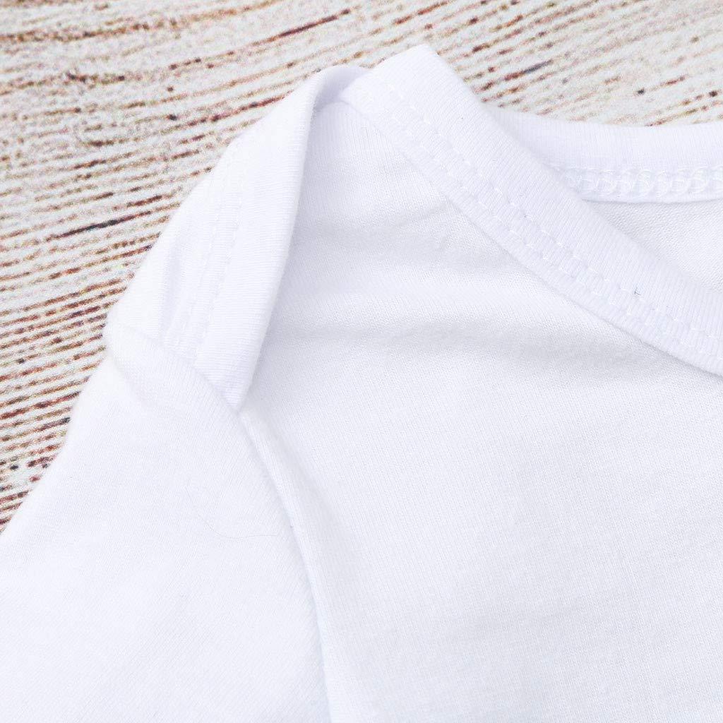 NUWFOR Toddler Infant Baby Girls Boys Letter Print Tops Bodysuit Romper Sunsuit Clothes T-3.25