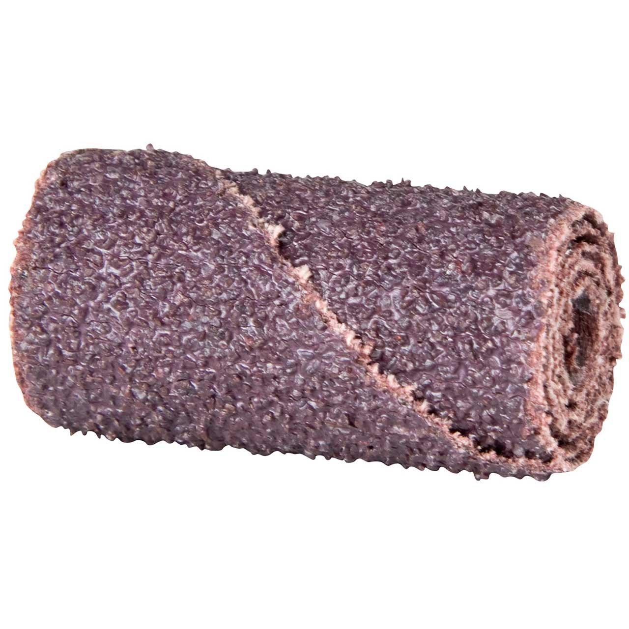 Merit Abrasive Cartridge Roll 1//4 Arbor Pack of 100 Grit 80 Roll 1 Diameter x 2 Length Aluminum Oxide
