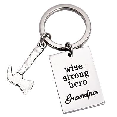 El abuelo llavero Wise fuerte Hero el abuelo - abuelo Dad ...