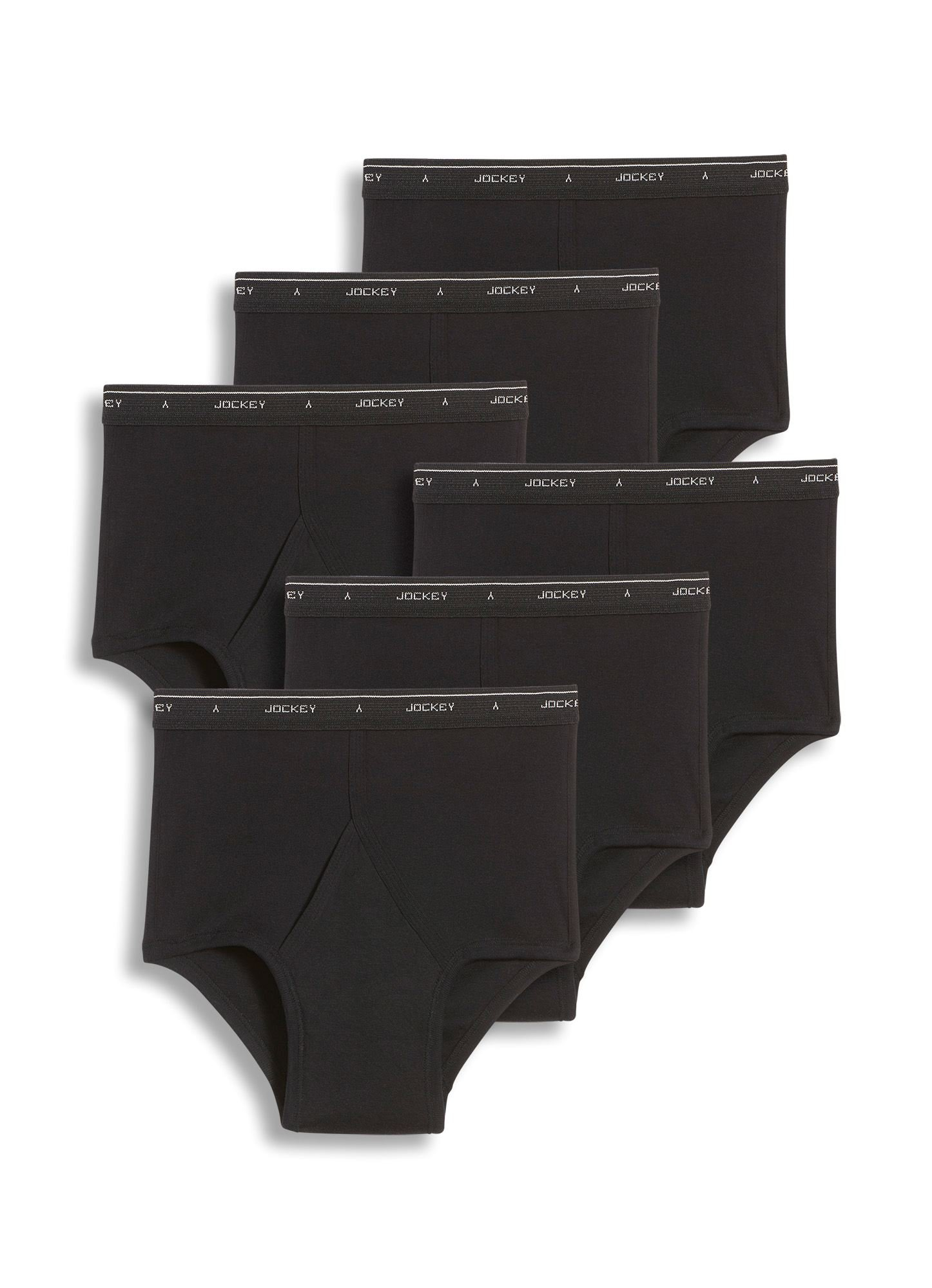 Jockey Men's Underwear Big Man Classic Brief - 6 Pack , black, 46
