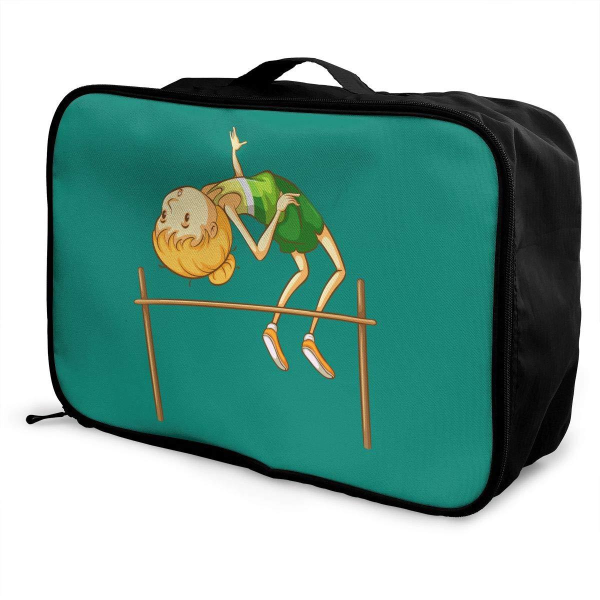 Travel Luggage Duffle Bag Lightweight Portable Handbag High Jump Large Capacity Waterproof Foldable Storage Tote