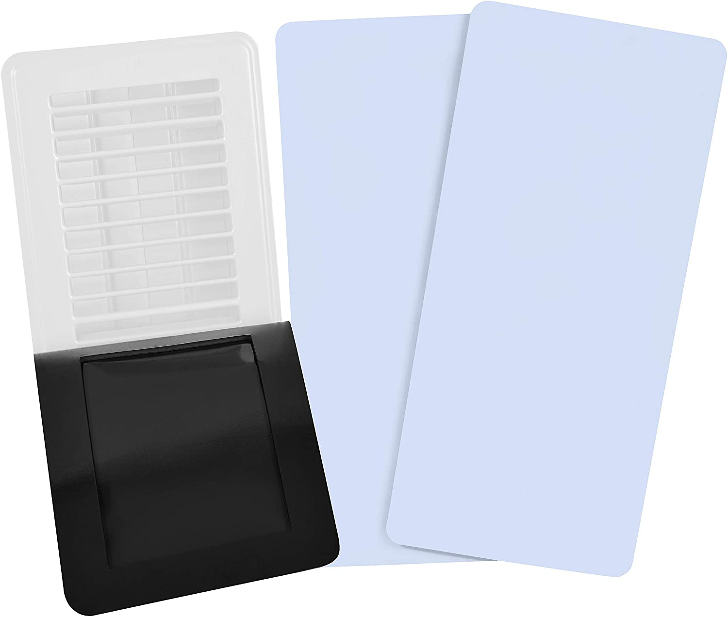 "SEAL360 Magnetic Vent Covers (3-Pack), Pockets for Complete Seal, 7.5"" X 12"" (White) for Floor, Wall, or Ceiling Vents and Air Registers, for RV, Home HVAC and AC Vents, Vent Not Included"