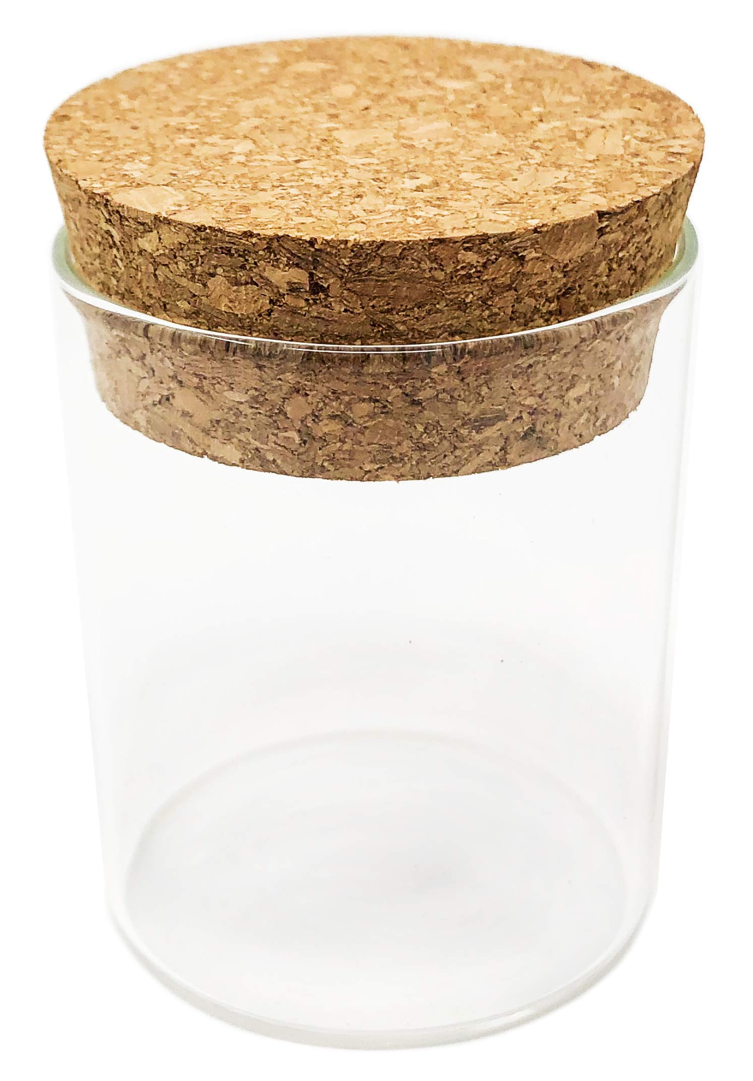 200pcs - 2oz Premium Glass Jars with Cork Lids - 3'' tall x 2'' wide - For Spices, Gifts, Candles, Crafts, Kitchen, and more
