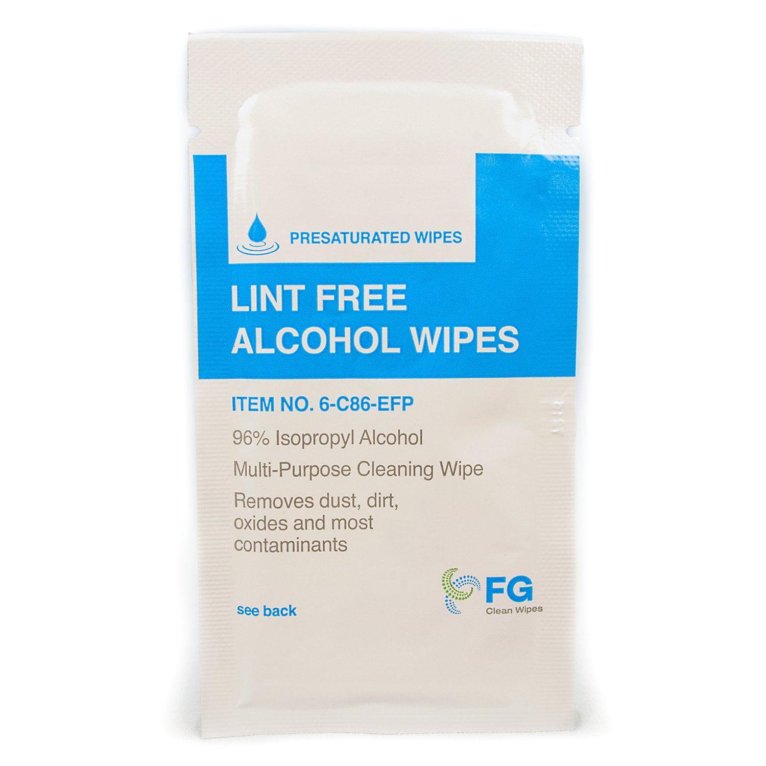 FG Clean Wipes 6-C86 Lint Free Presaturated Wipes (Box of 30)