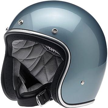 2453f741 Jet Helmet Glossy Blue Biltwell Bonanza Helmet Gloss Blue Steel Cafè Racer Vintage  Custom Biker Moto XS Blue Steel: Amazon.co.uk: Car & Motorbike