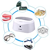 Pulitore ultrasuoni 600ml, trasduttore acciaio inossidabile 40kHz ad alta potenza spegnimento automatico lavatrice ad ultrasuoni per gioielli, orologi, occhiali, dentista, prodotti per la casa