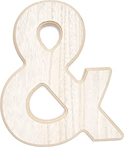 Wooden Alphabet Letters, Ampersand (12 Inches)