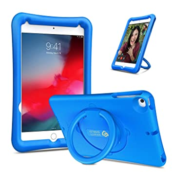 Fintie Case for iPad Mini 5 2019 / iPad Mini 4, [Magic Ring] 360 Rotating Multi-Functional Grip Stand Shockproof Full-Body Rugged Protective Cover for ...
