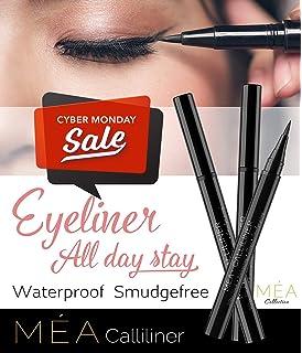 Waterproof Liquid Eyeliner - Meas Calliliner Semi Permanent Ultra Black Eye Liner, Prestige All Day